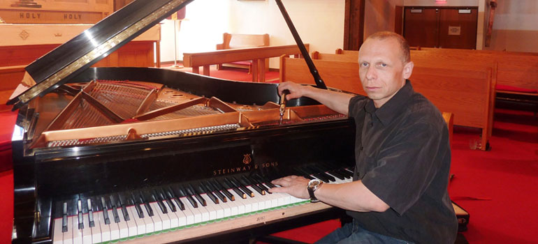 Piano tuning for concert hall, music studio, church